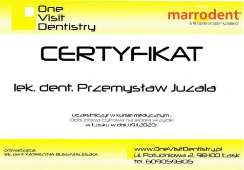 certyfikat dr Juzala